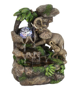 """ORE International 11"""" Tall Polyresin Indoor Fountain with LED Light and 1l Ca..."""
