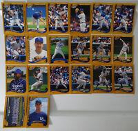 2002 Topps Series 1 & 2 Kansas City Royals Team Set of 20 Baseball Cards