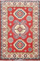 Traditional Super Kazak Geometric Oriental Area Rug Wool Hand-Knotted 2x3 Carpet