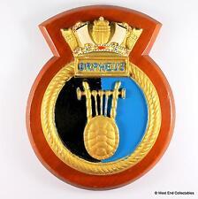 HMS Orpheus - Old British Royal Navy Submarine Tampion Plaque Badge Crest A