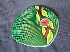 dessous de plat centre de table ceramique de vallauris signe fpp fleur vintage