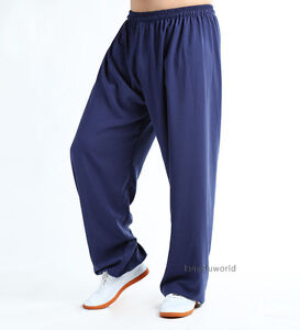 Cotton & Silk Tai chi Kung fu Pants Wushu Martial arts Sports Trousers