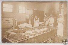 RPPC - Bakery Interior - Baking scene - early 1900s