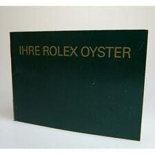 livret Rolex oyster