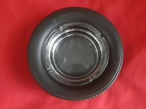 Vintage dunlop Tire Advertising Rubber Ashtray