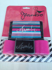 Brand New In Packet Girls 8 to 16 Years Genuine Mambo Brand Wallet & Belt Set