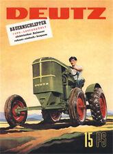 DEUTZ 15 PS Traktor Blechschild 8x11 cm Blechkarte Sign PC-201/533