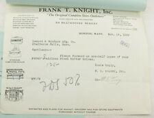 1929 Lamson Goodnow Frank T Knight Boston MA Scales Grinders Ephemera P1213K