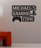 Gaming Zone Sticker Game Room Door Wall Art Vinyl Decal PC Console Laptop Window