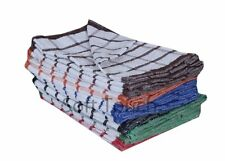 Terry Tea Towels Kitchen Dish Cleaner Cotton Large Striped Clothes Pack Of 12