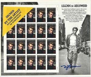 1996 James Dean Legends of Hollywood 32¢ Full Sheet, Artist Signed, SC #3082