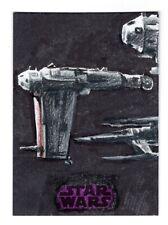 2018 Topps Star Wars The Last Jedi SERIES 2 Sketch Card by Artist John Dibiase
