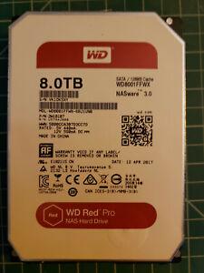"WD Western Digital Red Pro 8TB SATA 3.5"" NAS Hard Drive HDD WD8001FFWX"