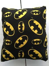 "Batman Pillow Hand Sewn Handmade 11""x 9"" x 4"" Polyester fill"