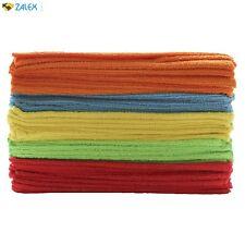 50 Pack Bulk Soft Cloth Microfiber Cleaning Towel Rag Detailing Car Polishing