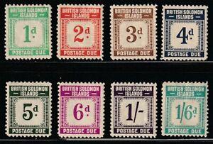 Solomon Is.   1940   Sc # J1-8   VLH   Brown gum   (55486)