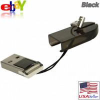 Mini USB 2.0 High Speed TF/T-Flash Micro SD HC Memory Card Reader Adapter Black