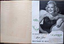 ICE SKATING deluxe velvet program SONJA HENIE With Her Hollywood Ice Revue 1948
