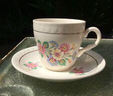 Vintage Barratts Tea Set with pastel flowers - set of 6