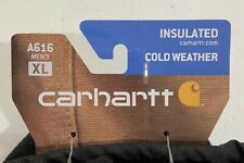 NWT Carhartt Cold Weather Insulated Mittens Size XL Waterproof Wrist Strap Fleec