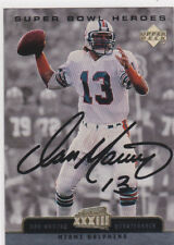 DAN MARINO AUTO SIGS Upper Deck SUPER BOWL HEROES Miami Dolphins Football Card