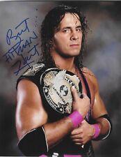BRET HART HITMAN WWF WWE WCW SIGNED AUTOGRAPH 8X10 PHOTO #2 WRESTLING INK COA