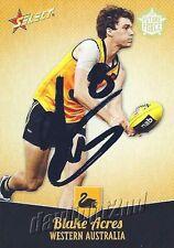 ✺Signed✺ 2013 ST KILDA SAINTS AFL Card BLAKE ACRES Future Force