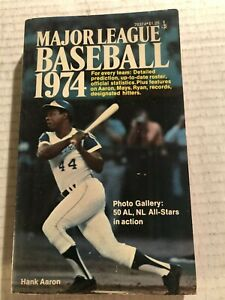 1974 Baseball ATLANTA Braves HANK AARON #715 Paperback 50 Photos AL NL ALL STARS
