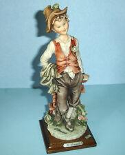 """Giuseppe Armani Young Traveler Boy Capodimonte Figurine 9"""" High 1980's"""