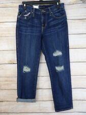 NWT Women's ROCK & REPUBLIC Dark Wash RELAXED Slim BOYFRIEND Distressed Jeans 2M
