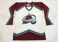 Vintage CCM NHL Colorado Avalanche Hockey Jersey White Adult M Canada Screen