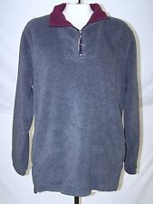 Charter Club Blue Gray Fleece Pullover Sweatshirt Womens Size Large 12 14