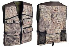 Mossy Oak Predator Hunting Vest - Brush Camo 11 Pocket - Large One Size