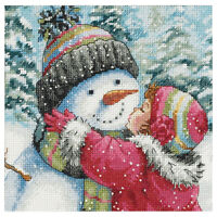 Counted Cross Stitch kits, A Kiss For Snowman C2K3