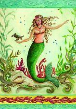 Mermaids Under The Sea Beach Summer Coastal 2 Sided Custom Decor Garden Flag