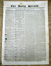 <1839 newspaper FORT-DE-FRANCE DESTROYED as EARTHQUAKE RIPS MARTINIQUE Disaster