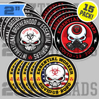 Skull Essential Worker Sticker Pack Brotherhood Virus Bio Vinyl Hard Hat Decals!