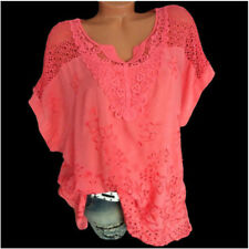 Women Summer Casual Short Sleeve T Shirt V-Neck Tops Solid Loose Blouse