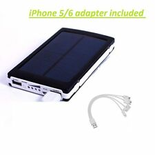 LOT OF 2 30000mAh Dual USB Portable Solar Battery Charger Power Bank Cell Phone
