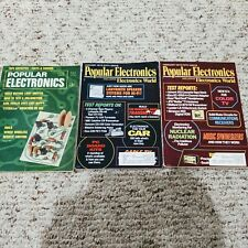 Popular Electronics Magazines 1969 and 1972 Vintage Lot of 3
