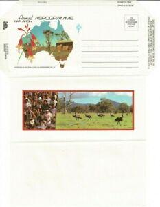 Aerogramme 1980's Australia John Sands AP approval No 72 marathon & emus