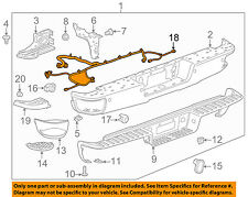 GM OEM Rear Bumper-Harness 23406459
