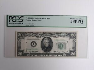 $20 1950A Fed Res Note PCGS 58 * STAR NOTE *