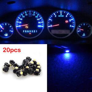 20Pcs T4 T4.2 Instrument LED Bulbs 1SMD Light Neo Wedge Gauge Dash Lights Blue