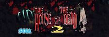 House of the dead Video Game Marquee High Quality Metal Magnet 2 x 6 inches 9153