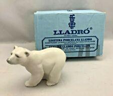 """Lladro #1207 Attentive Polar Bear J. Huerta 1972 w/ Original Box 4"""" Tall"""