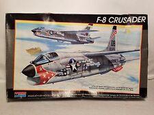 1:48 Monogram Revell F-8 Crusader Plastic Model Plane 1988 | Fast Free Shipping!