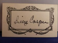 Billy Casper Signed 3 x 5 Card with COA