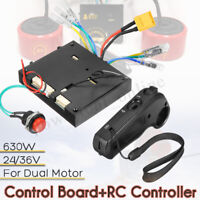 630W 24/36V Brushless Motor Dual Drive Remote Controller for Electric Skateboard
