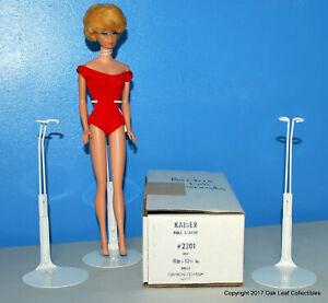 """6 Kaiser 2201 WHITE 11.5""""-12.5"""" Barbie MATTEL JEM & Other DOLL STANDS"""